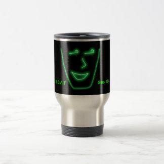 Geek Of All Trades green travel mug