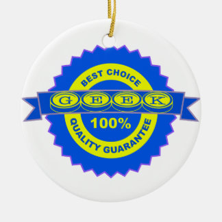Geek Seal of Approval Round Ceramic Decoration