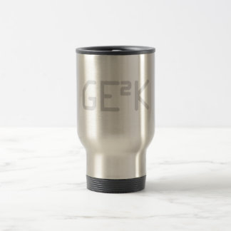 Geek squared. travel mug