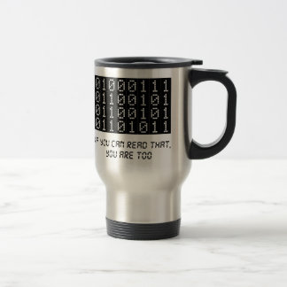 Geek Stainless Steel Travel Mug