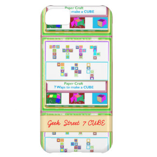 GEEK Street 7 CUBE : Kids Paper Craft Lessons iPhone 5C Case