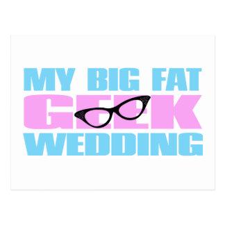 Geek Wedding Postcard