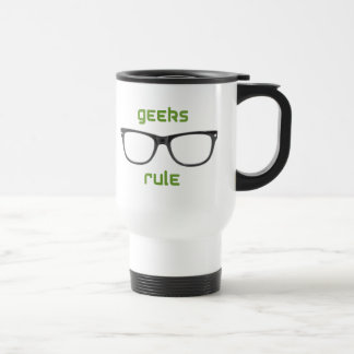Geeks Rule Eyeglasses Travel Mug