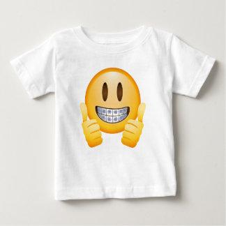 Geeky Braces Emoji Baby T-Shirt