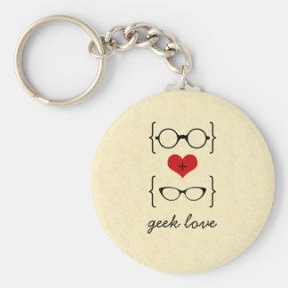 Geeky Glasses Keychain