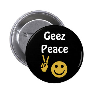 Geez Peace Scottish Independence Badge Pinback Buttons