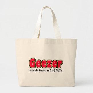 Geezer or Stud Muffin Grandpa Gift Jumbo Tote Bag