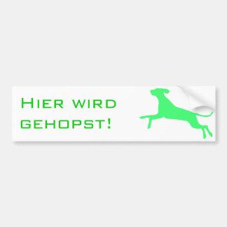 Gehopst Hund Bumper Sticker