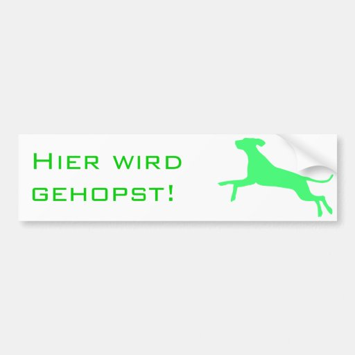 Gehopst Hund Bumper Stickers