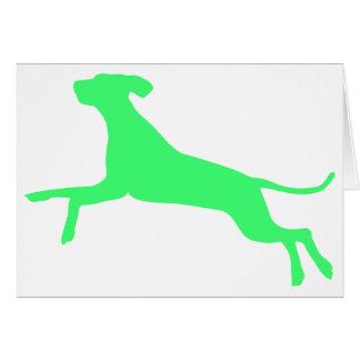 Gehopst Hund Greeting Card