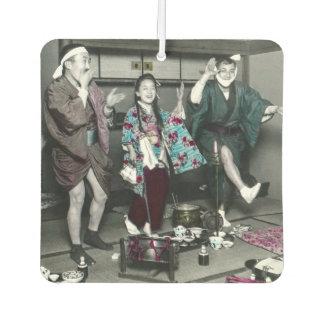 Geisha Party Time in Old Japan Vintage Japanese Car Air Freshener