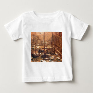 Geldersekade of Amsterdam Invierno by Claude Monet Baby T-Shirt