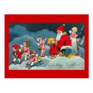 """Gelukkig Kerstfeest"" Vintage Dutch Postcard"