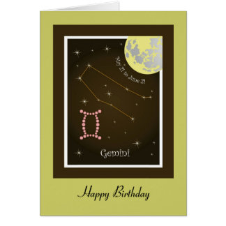 Gemini May 21 tons of June 21 map Card