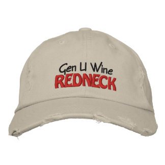 Gen U Wine REDNECK Embroidered Baseball Cap