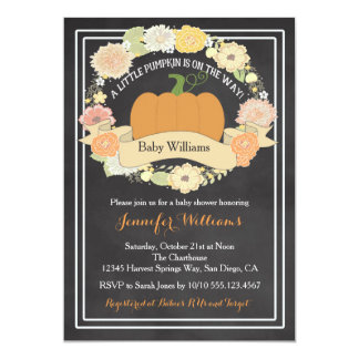 Gender Neutral Pumpkin Baby Shower Invitation