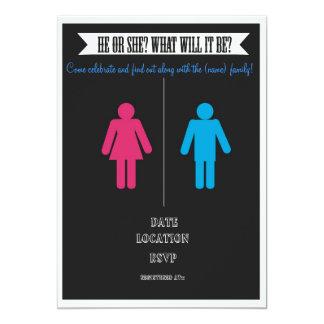 Gender Reveal baby Shower Invitation