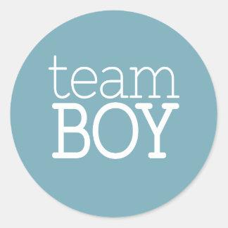 Gender Reveal Baby Shower - Team Blue Boy Classic Round Sticker