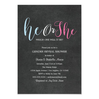 Gender Reveal - Chalkboard | Party Invite