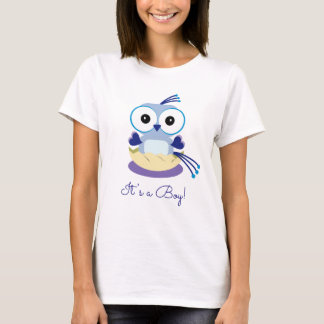 Gender Reveal Party - Blue Baby Bird - Boy T-Shirt