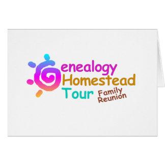 Genealogy Homestead Tour Family Reunion Invitation Card
