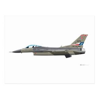 General Dynamics F-16D Fighting Falcon Tex ANG col Postcard