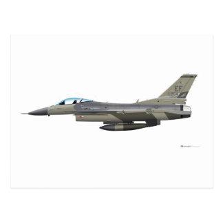 General Dynamics F-16D Fighting Falcon Tex ANG sub Postcard