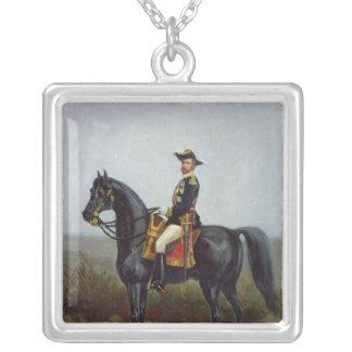 General George Ernest Boulanger Silver Plated Necklace