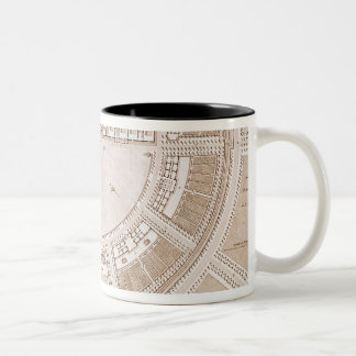 General plan of the salt works in 'ideal city' Two-Tone coffee mug