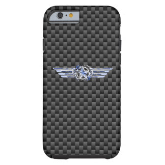 General Private Air Pilot Chrome Like Star Wings Tough iPhone 6 Case