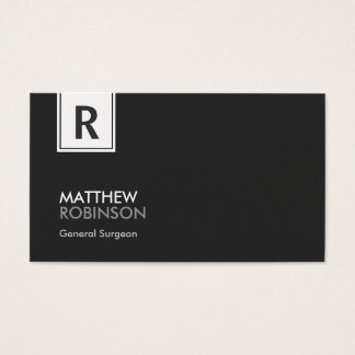 General Surgeon - Modern Classy Monogram Business Card