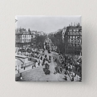 General view of the Place de la Madeleine 15 Cm Square Badge