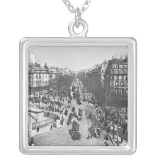General view of the Place de la Madeleine Silver Plated Necklace