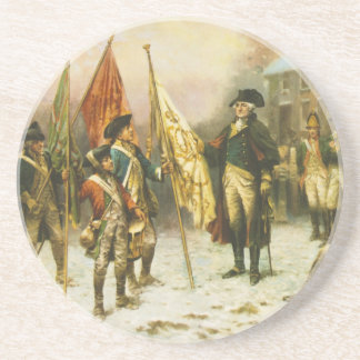 General Washington Inspecting the Captured Colors Coaster