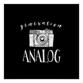 Generation Analog Vintage Camera Photographer Poster