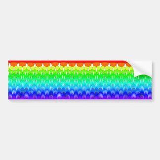 generic rainbow waterfall bumper sticker