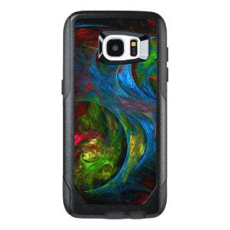 Genesis Blue Abstract Art OtterBox Samsung Galaxy S7 Edge Case