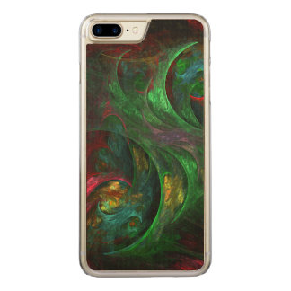 Genesis Green Abstract Art Carved iPhone 7 Plus Case