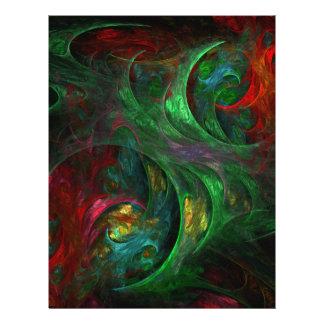 Genesis Green Abstract Art Flyer