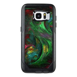 Genesis Green Abstract Art OtterBox Samsung Galaxy S7 Edge Case