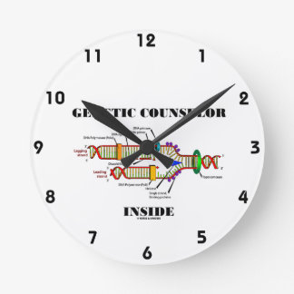 Genetic Counselor Inside (DNA Replication) Round Clock