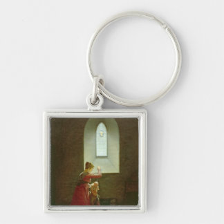 Genevieve of Brabant Baptising her Son in Prison Key Chains