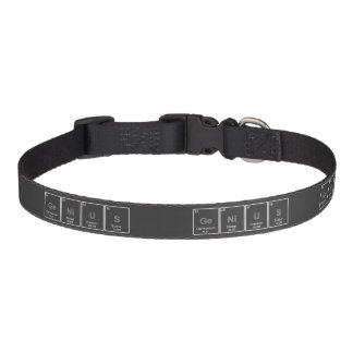 GeNiUS chalkboard periodic table elements collar Pet Collars
