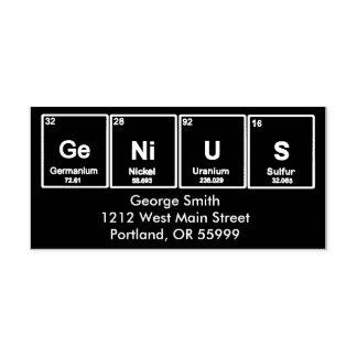 GeNiUS Periodic table elements custom stamp