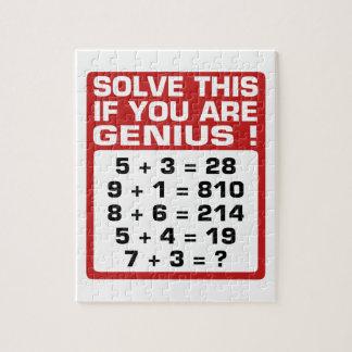 Genius Question Jigsaw Puzzle