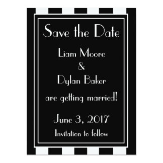 """Genteel"" Save the Date 17 Cm X 22 Cm Invitation Card"