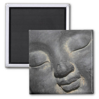 Gentle Buddha Face Stone Sculpture Fridge Magnets