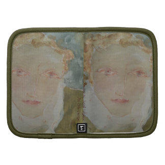 Gentle-Faced Woman with Red Hair on Mini Folio Planners
