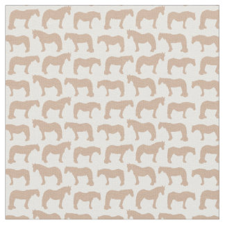 Gentle Giants Fabric (customisable horse colour)