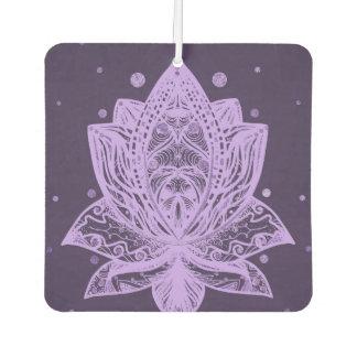 Gentle Pastel Violet Lotus Flower Car Air Freshener